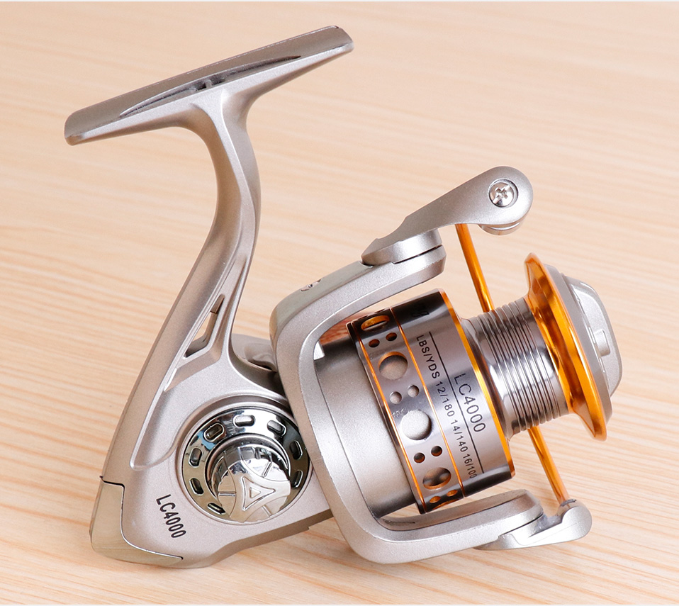 TREHOOK Super Strong 5.21 Baitcasting Reel Metal Spinning Reel Winter Fishing Accessories Sea Fishing Reels With Wooden Knob 016