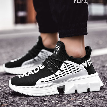 2019 men sneakers running Shoes Lace Up Breathable sport shoes men Casual Design Light Weight zapatillas hombre chaussure homme 1