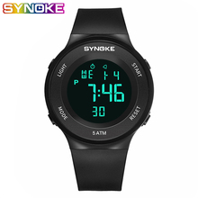 SYNOKE Unisex Digital Waterproof Sports Watch Electronic Military LED Sport Running Multifunction Wrist Stopwatch