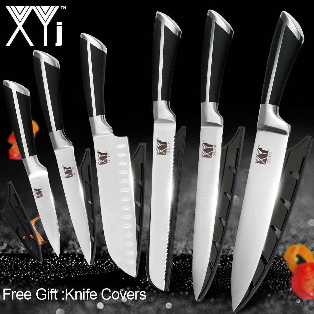 XYj kesici bıçak araçları paslanmaz çelik bıçak seti japon mutfak bıçağı şef Cleaver Santoku şef mutfak bıçakları malzemeleri