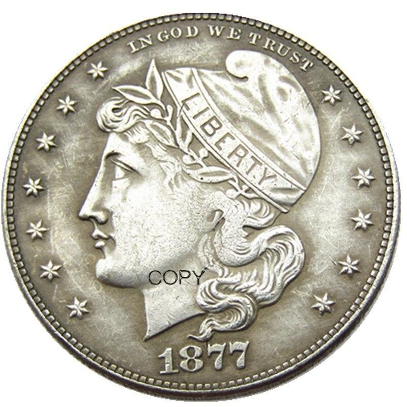 Eua 1877 phrygiam cabeça meio dólar padrões prata chapeado cópia moeda
