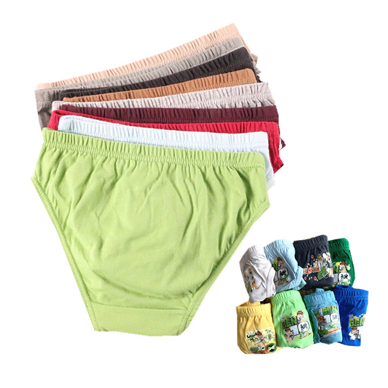 12pcs/Lot Pure Color Boys Panties Cotton Underwear Shorts Kids Briefs Clothes Children Pants