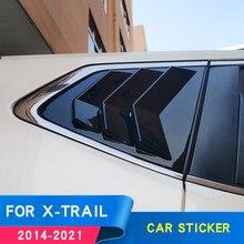 Para nissan x trail t32 2019 accesoires x trail t32 fibra de carbono etiqueta do carro janela decoração adesivo 2020 2018 2017 2016