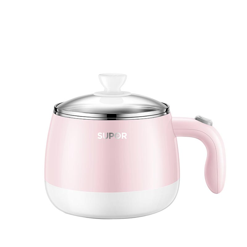 Supur Student Small Cooking Pot Dormitory Mini Hot Pot Small Household Multifunctional Cooking Pot 1 Electric Pot 2 People