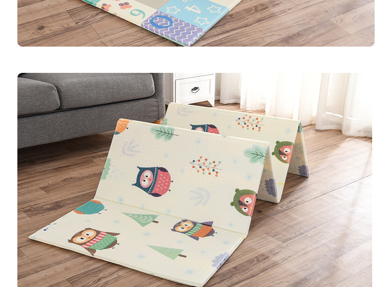 H04019ee7eeaf4b80b618c643e508c909y Miamumi Portable Baby Play Mat XPE Foam Double Sided Playmat Home Game Puzzle Blanket Folding Mat for Infants Kids' Carpet Rug
