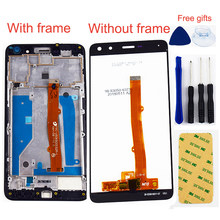 For Huawei Nova Young 4G LTE / Y6 2017 / Y5 2017 MYA-L11 MYA-L41 LCD Display + Touch Screen 5.0 inch Panel Sensor Assembly Frame(China)