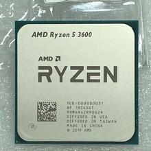 Ryzen معالج وحد مركزية سداسي النواة ، AMD 5 3600 R5, 3.5 جيجاهرتز ، 7NM 65W L3=32M 100 000000031مقبس AM4