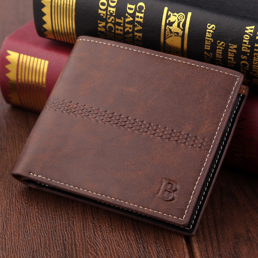 Retro Men Wallet Luxury Credit Card Holder Business Short Men's Wallets For Man Coin Purse Male Wallet Small Clutch Bag