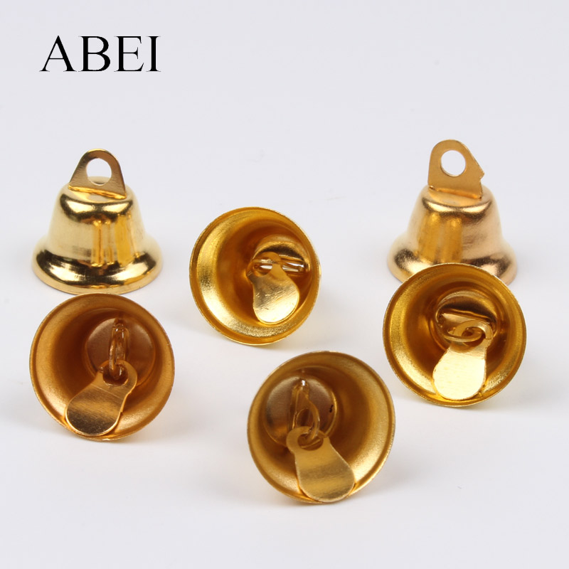 100pcs Gold Silver Christmas Gingle Bell For Party Wedding Home Xmas Tree Decoration Jewelry Finding DIY Bells Crafts