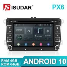 Isudar 2 Din Android 10วิทยุสำหรับVW/Golf/Tiguan/Skoda/Fabia/Rapid/ที่นั่ง/Leon CanbusรถมัลติมีเดียAutomotivo GPS DVD DSP