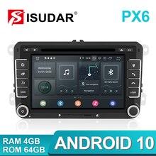 Isudar 2 Din Android 10 radyo VW/Golf/Tiguan/Skoda/Fabia/hızlı/koltuk/Leon Canbus araba multimedya oynatıcı Automotivo GPS DVD DSP