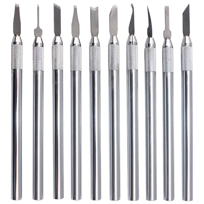 HHO-10 Pcs Wax Carving Knife Kit Sculpture Blades Wax Pottery Clay Sculpting Carving Modeling Tool Jewelry Tools