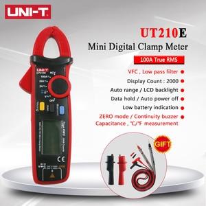 Digital Multimeter Mini AC DC Clamp Meter Multimeter UNI-T UNI T UT210E True RMS Capacitance Tester Auto Range VFC Multimetro(China)