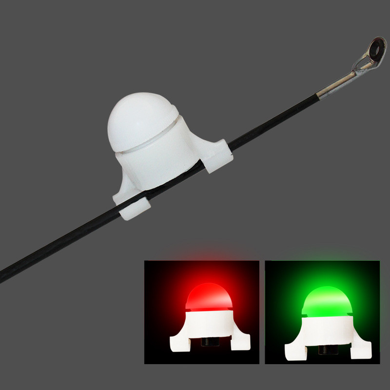 Electronic Fishing LED Light Fishing Bite Alarms Fishing Line Gear Alert Indicator Rod Tip Carp Night Fishing Auto Recognition