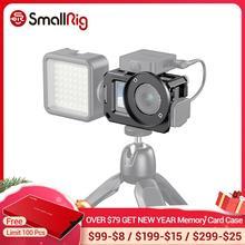SmallRig Vlog Cage para DJI Osmo Action (Compatible con adaptador de micrófono) Compatible con CYNOVA Dual 3,5mm USB C Adapter 2475