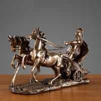 Абстрактные винтажные римские статуэтки колесницы сказочные садовые миниатюрные украшения для офиса украшение стола современное искусст...