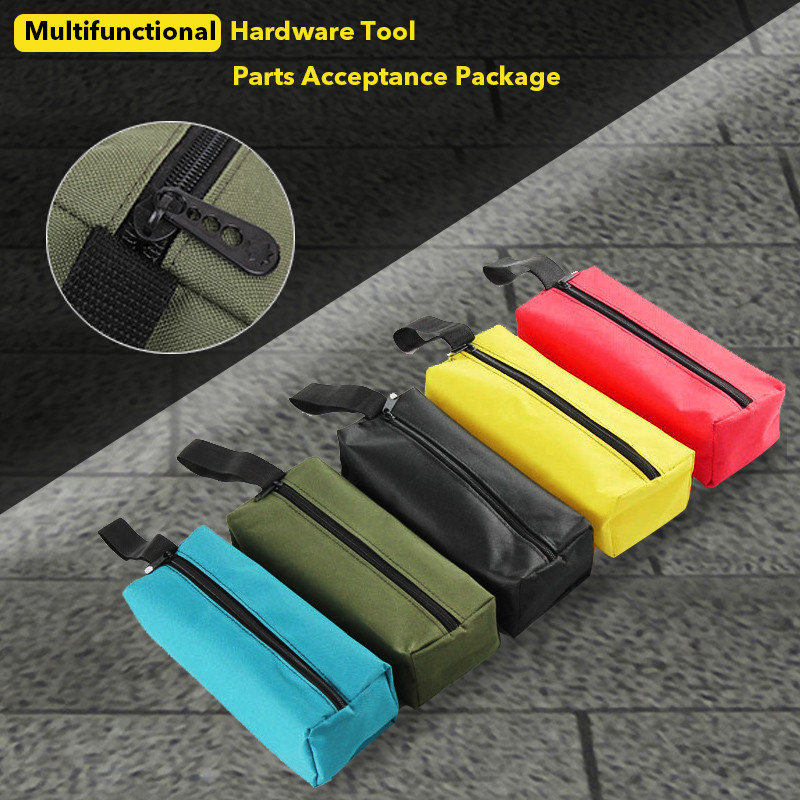 Oxford Canvas Waterproof Storage Hand Tool Bag Screws Nails Drill Bit Metal Parts Fishing Travel Organizer Tool Utility Bags