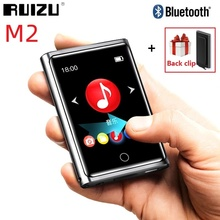 RUIZU M2 بلوتوث مشغل MP3 2 بوصة كامل شاشة تعمل باللمس المحمولة الصوت مشغل موسيقى مع راديو FM تسجيل الكتاب الإلكتروني مشغل فيديو