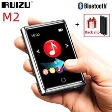 RUIZU reproductor MP3 M2 con Bluetooth, pantalla completamente táctil de 2 pulgadas, reproductor de Audio portátil, Radio FM, grabación, E book, reproductor de vídeo