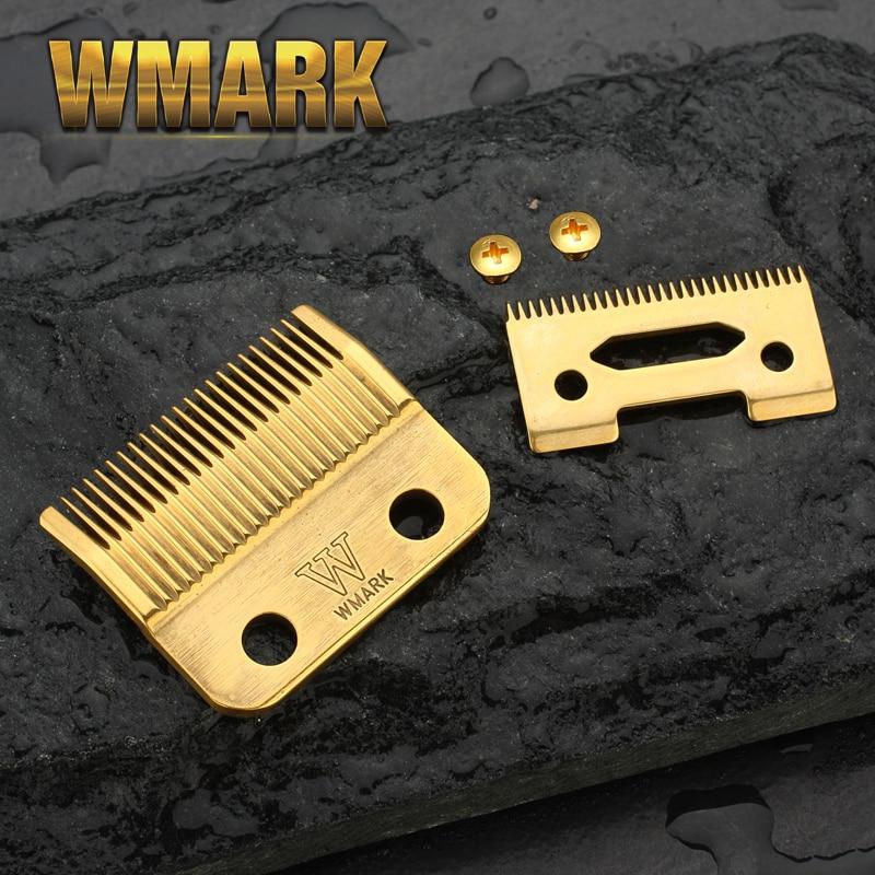 WMARK Blade Professional Cordless Hair Clipper Blade High Carton Steel Clipper Accessories Golden For Choice Golden Screws