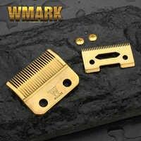 WMARK lame professionnel sans fil tondeuse à cheveux lame haute carton acier tondeuse accessoires doré pour choix vis dorées