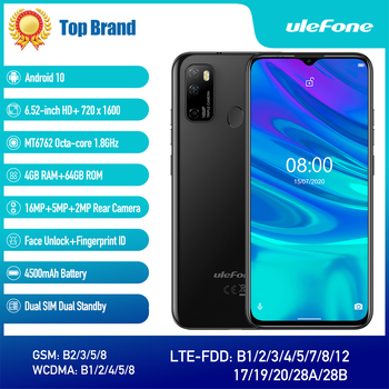 Ulefone Note 9P Smartphone Android 10 4GB+64GB Waterdrop Screen 6.52-Inch Octa-Core 4G Android Mobile Phone 2