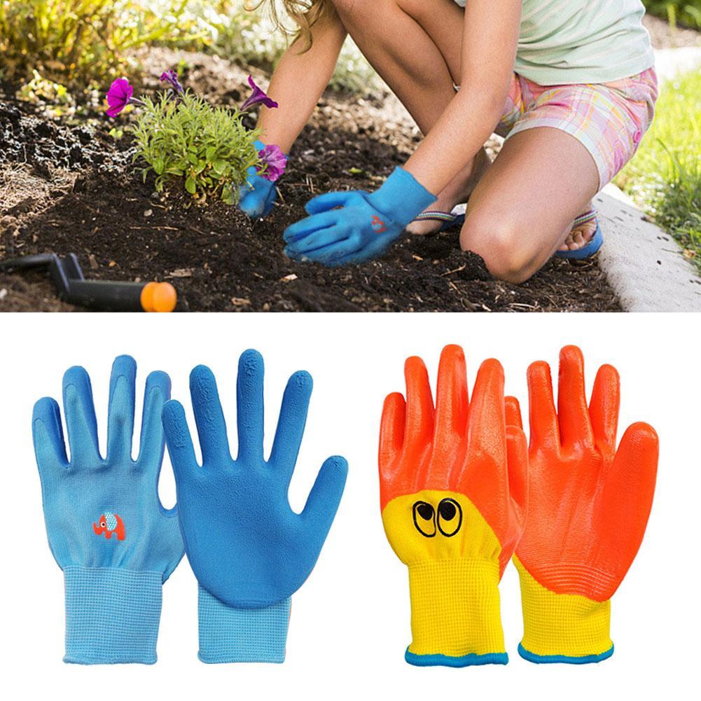 Crianças crianças luvas de proteção durável à prova dwaterproof água jardim luvas anti mordida corte coletar conchas protetor plantio gadget trabalho|Luvas para uso doméstico|   -