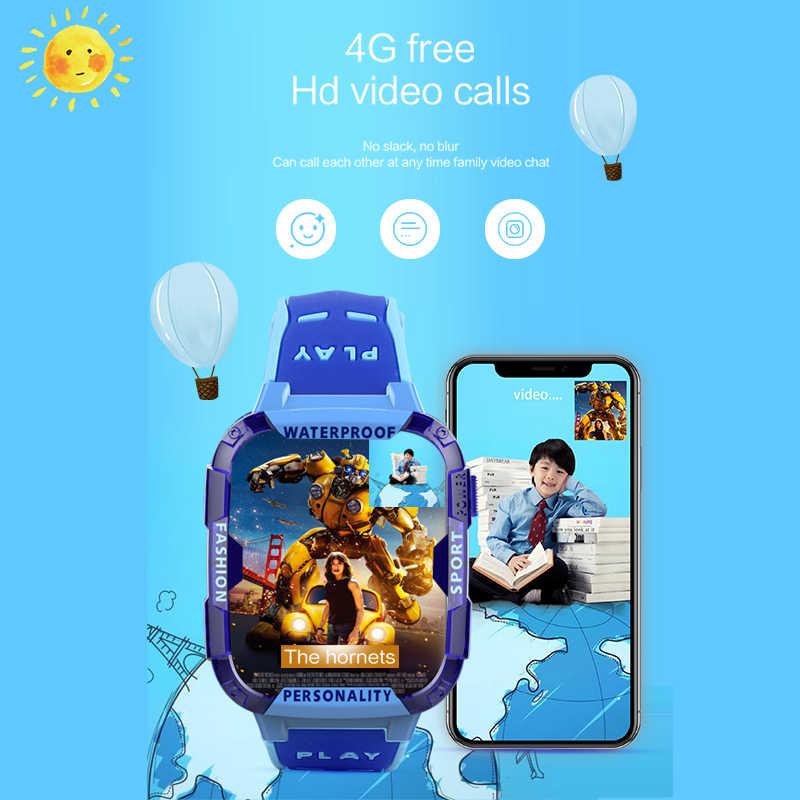 2019 New Childrens smart watch Remote Camera WI-FI Kids Students Wristwatch SOS 4G Video Call Monitor GPS Tracker Location Watch
