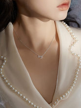 s925 silver necklace with flowers fresh and lovely clavicle chain ins small pendant jewelry for female wedding party gifts