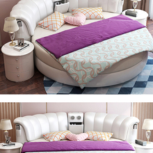 Bed-Frame Massage Bluetooth-Speaker Ultimate Bed Round Multifunctional Genuine-Leather