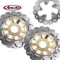 ARASHI For SUZUKI GSXR1100 CNC Front Rear Brake Rotors Brake Disc GSX R1100 1989 1990 GSX R1100 GSXR750 1989 1995