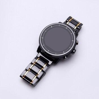 Correa de reloj de cerámica de 20mm 22mm para reloj de ritmo AMAZFIT/reloj inteligente Amazfit Stratos 2/Bip Amazfit reloj correa de cerámica de alta calidad