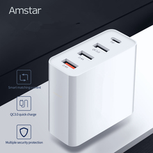 Amstar 48W Multi Quick Charge 3.0 USB C PD Charger for iPhone 11 XS XR X Samsung 10 10+ 9 Huawei Tablet QC 3.0 Fast Wall Charger