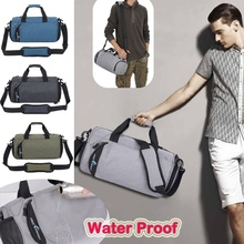 Travel Waterproof Fabric Large Capacity Nylon Gym Sports Bag Shoulder Handbag