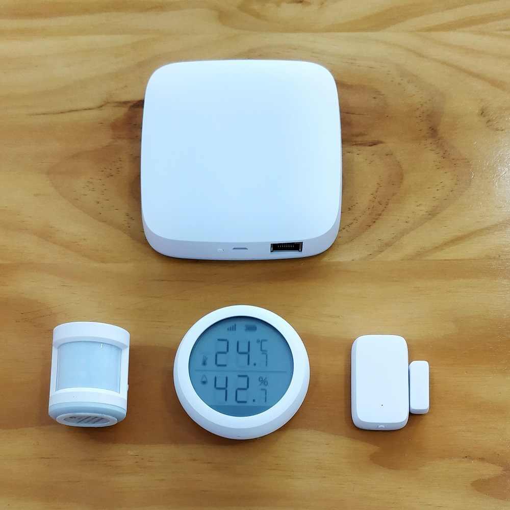 チュウヤスマートホーム zigbee ゲートウェイハブ壁スイッチ pir/ドア/温度 & 湿度センサー、セキュリティ警報キット動作アレクサ、 google