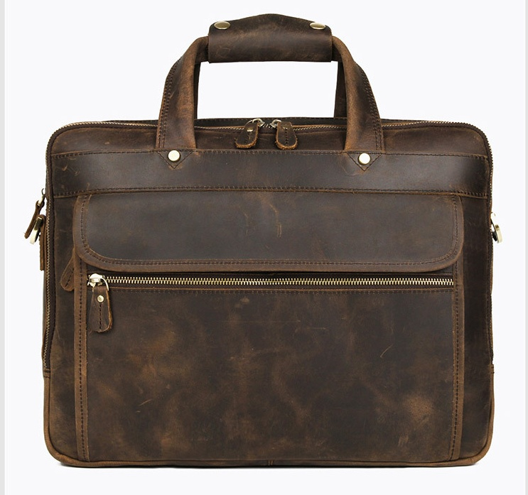H040344e65c2d41f292679ad738b03da3K MAHEU Vintage Leather Mens Briefcase With Pockets Cowhide Bag On Business Suitcase Crazy Horse Leather Laptop Bags 2019 Design