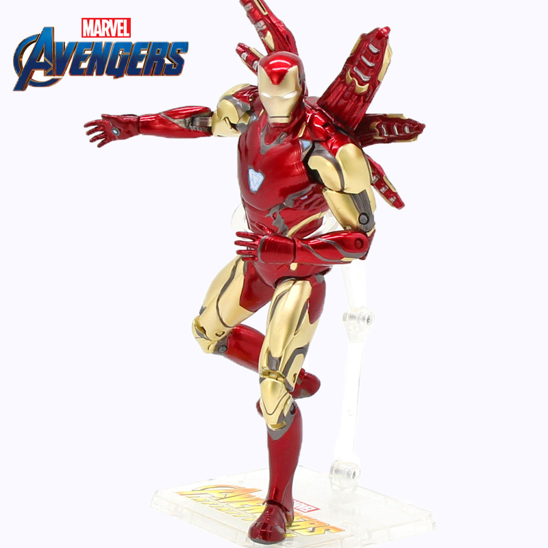 "Marvel Avengers 4 Endgame Tony Stark Legends ZD Toys Iron Man MK85 7"" Action Figure Ironman Mark 85 Nano Weapons"