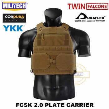 MILITECH FCSK 2.0 Advanced Slickster Plate Carrier Military Combat Tactical Vest Police Body Armor Carrier For 10x12/SAPI/ESAPI 3