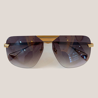 Vintage Mirror Rimless Sunglasses Women Vintage Goggle Sun Glasses Female