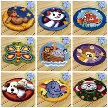 Knoopkussen Dieren Latch Hook Tapijt Embroidery Carpet Foamiran For Needlework Rug Kits Diy Kussen Knooppakket