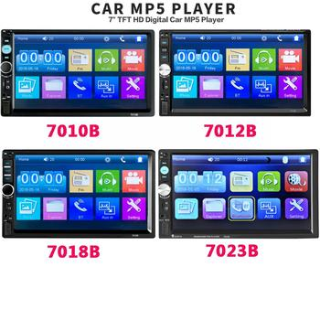 forHD 7 autoradio 2 din car radio coche recorder Touch Screen audio bluetooth usb rear view camera mp5 multimidio player image