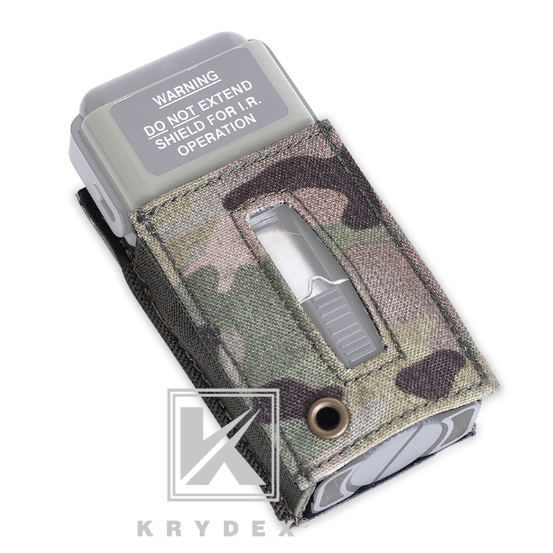 KRYDEX Tactical Strobe Light Protective Pouch Carrier Hook & Loop For MS2000 Distress Light Marker Mounting Helmets Protector|Pouches| |  - title=