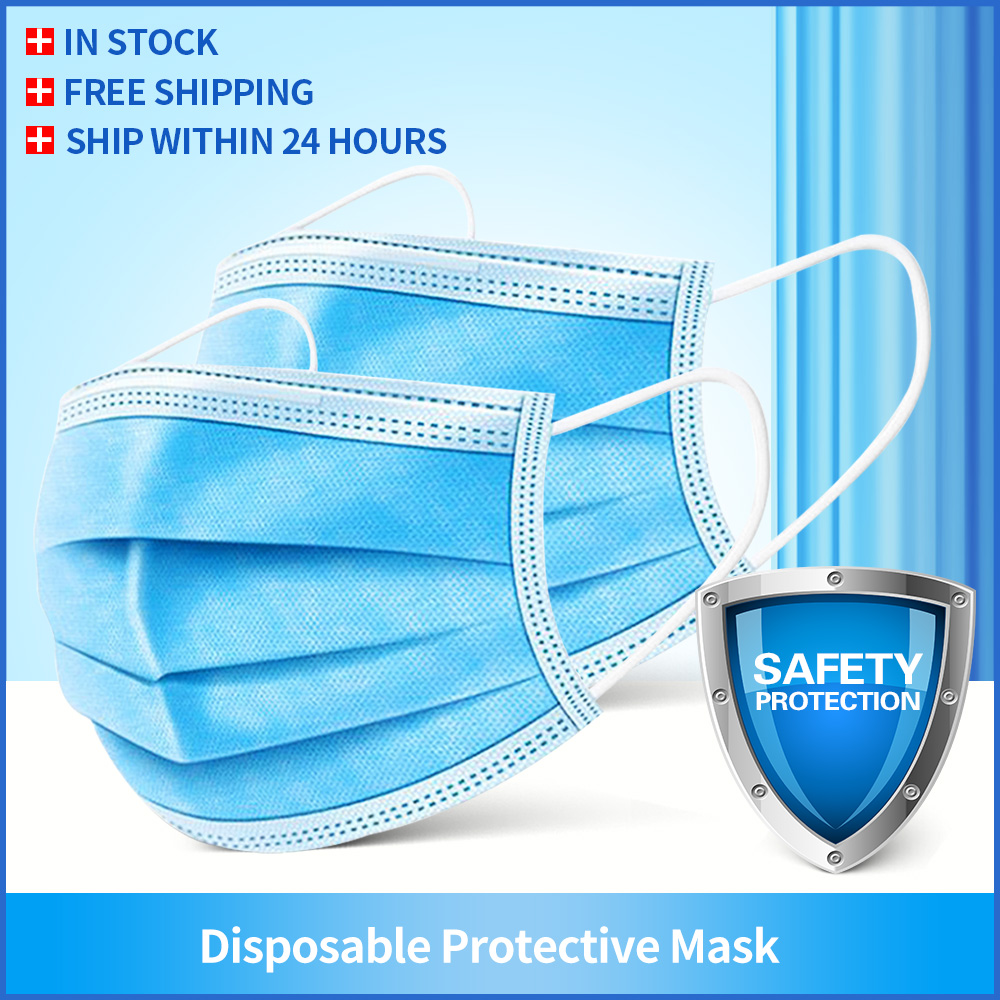 Disposable Mask Mouth Mask Non-woven Melt Blown Three-layer Mouth Mask Protective Dust Proof Anti-bacterial Breathable Mask