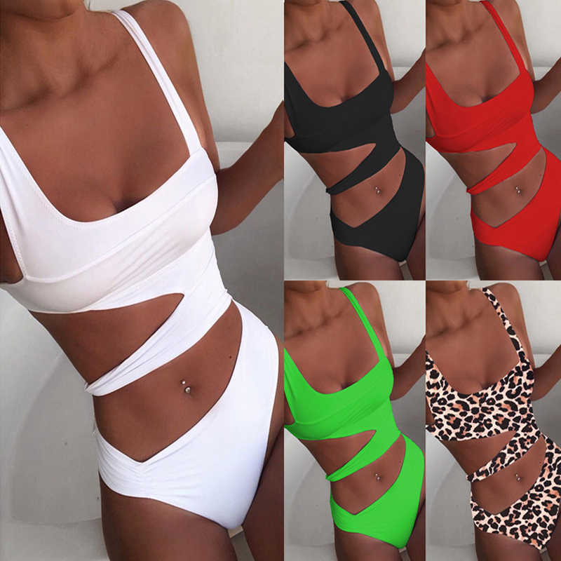2020 Baru One Piece Swimsuit Wanita Push Up String Potong Baju Renang Thong Seksi Monokini Baju Renang Pantai Baju Renang untuk Wanita