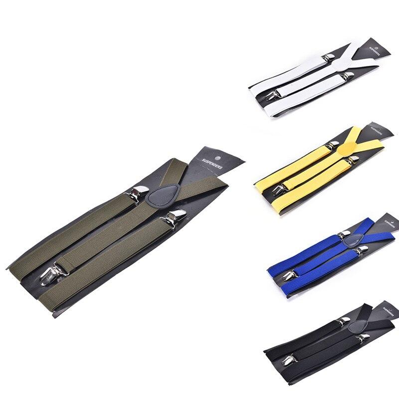 Unisex Adult Men's Suits Candy Color Suspenders Men 3 Clip Buckle Suspenders For Women Belt Strap Adjustable Shirts Braces