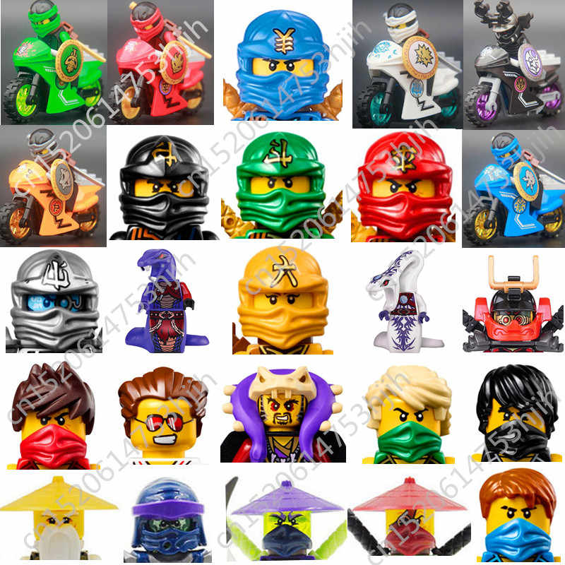1 pcs Ninjagoed Figure With Weapon Mech Kai Jay Cole Zane Lloyd Children's Early Education Sets Bricks Toys Gifts For Children