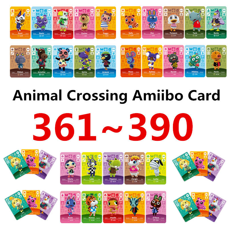 361-390 Nintend Amibo Amiibo Animal Crossing Switch Stickers Card Nintendo Amiibo Nfc Animal Crossing Nfc Ntag215 Series 4