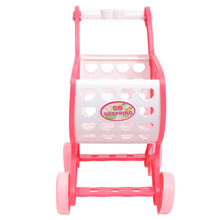1PC Mini Shopping Cart Funny Children Pretend Play Cartoon Grocery Cart Early Educational for Kids Playi