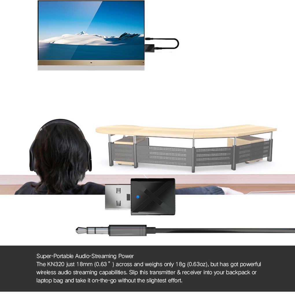 2 In 1 Usb Bluetooth 5.0 Zender Ontvanger Mini 3.5 Mm Aux Stereo Draadloze Bluetooth Adapter Voor Tv Pc Auto
