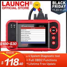 LAUNCH X431 CRP123 OBD2 EOBD automotive scannerABS Airbag SRS transmisión para motor de coche herramienta de diagnóstico multilingüe actualización gratuita